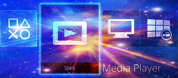 PS4 Media Player Video Oynatıcısı VR Destekli