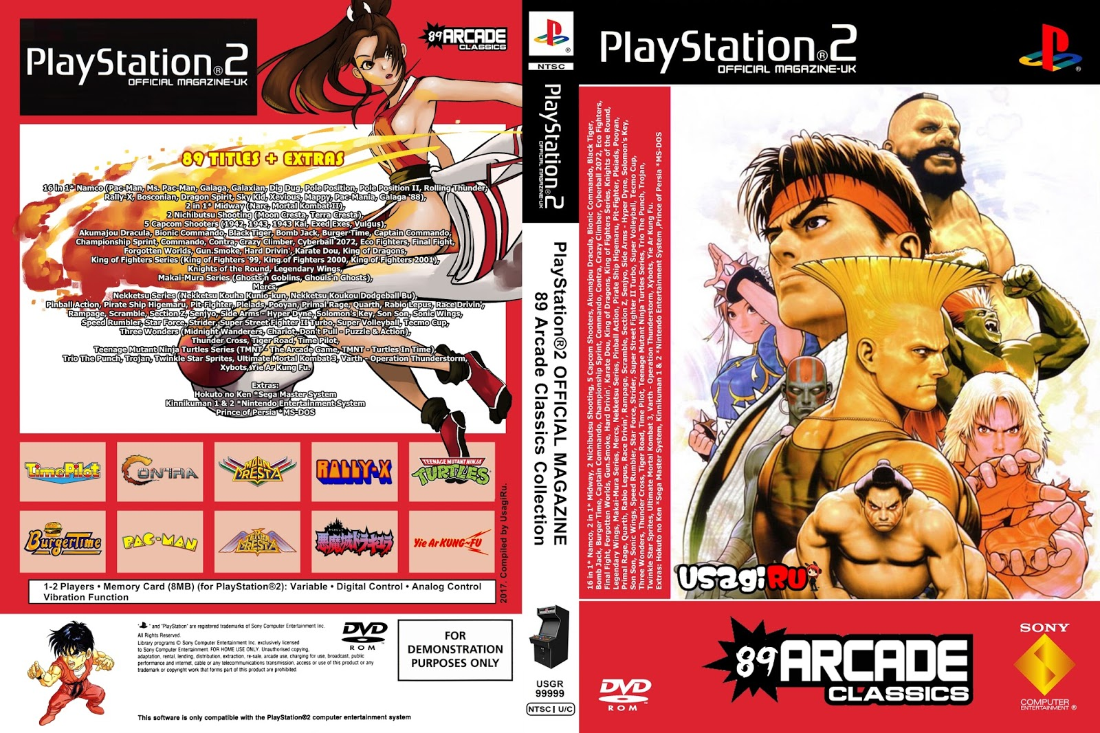 PS4 Arcade Oyunları 89 in 1 PS2 to PS4