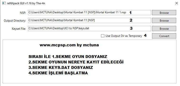 Switch Öğretici - XCI Oyunlarını NSP Formatına Çevirme Yeni | MCPSP